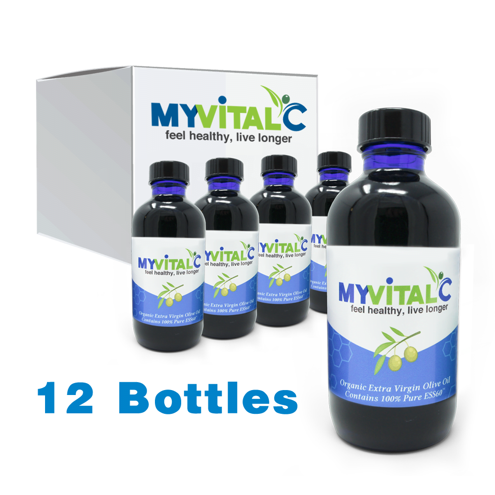 MyVitalC ESS60 in Organic Extra Virgin Olive Oil , Case of 12 (1440ml total)
