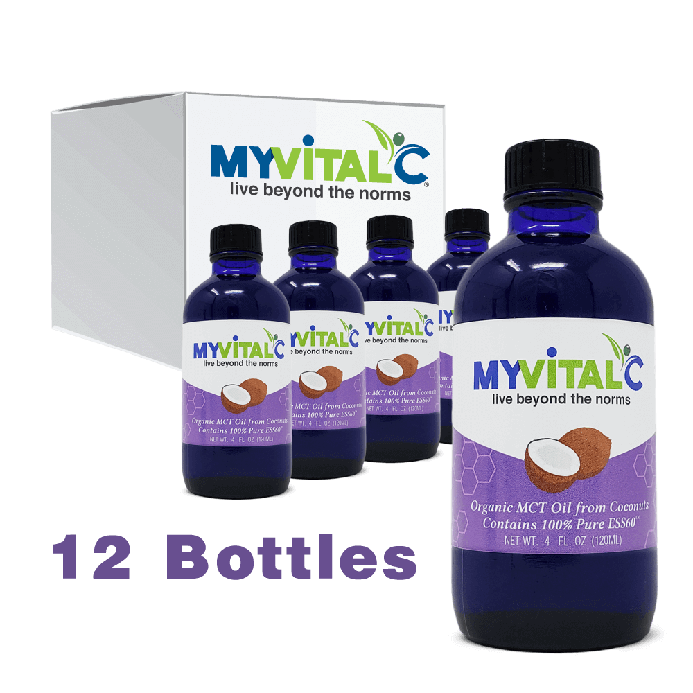 MyVitalC ESS60 in MCT Coconut Oil , Case of 12 (1440ml total)
